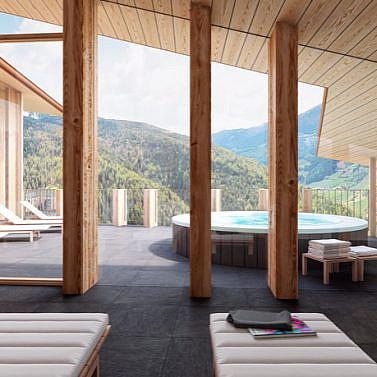 Modernes Lodge-Hotel mit elegantem Spa