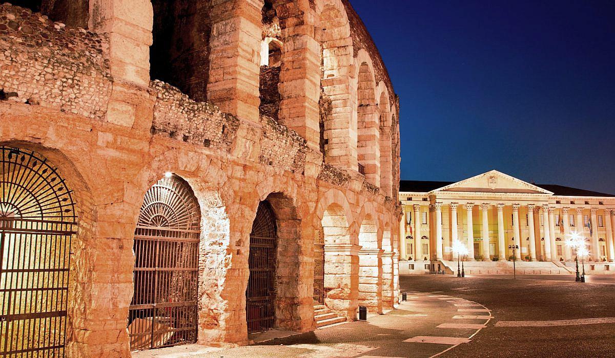 Arena von Verona bei Nacht, Verona, Venetien | italien.de