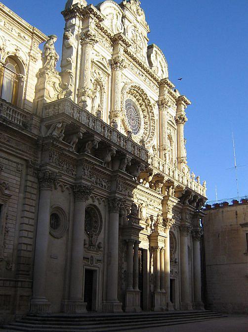 lecce italien barockkirche basilica di santa croce via umberto i landkarte