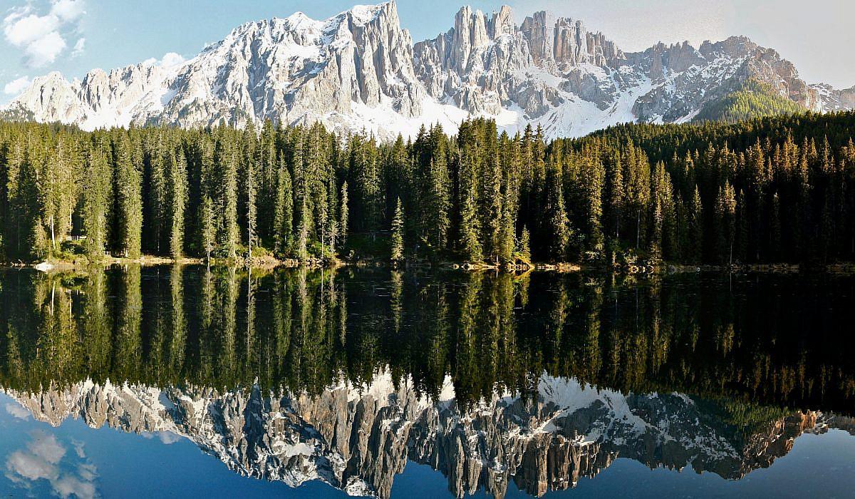 Karersee in den Dolomiten, Suedtirol   italien.de