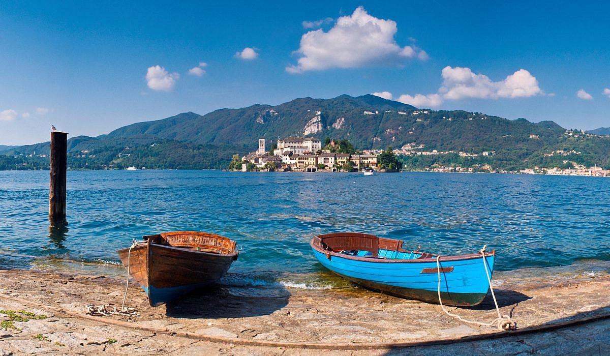 Ortasee mit Isola San Giulio, Piemont | italien.de
