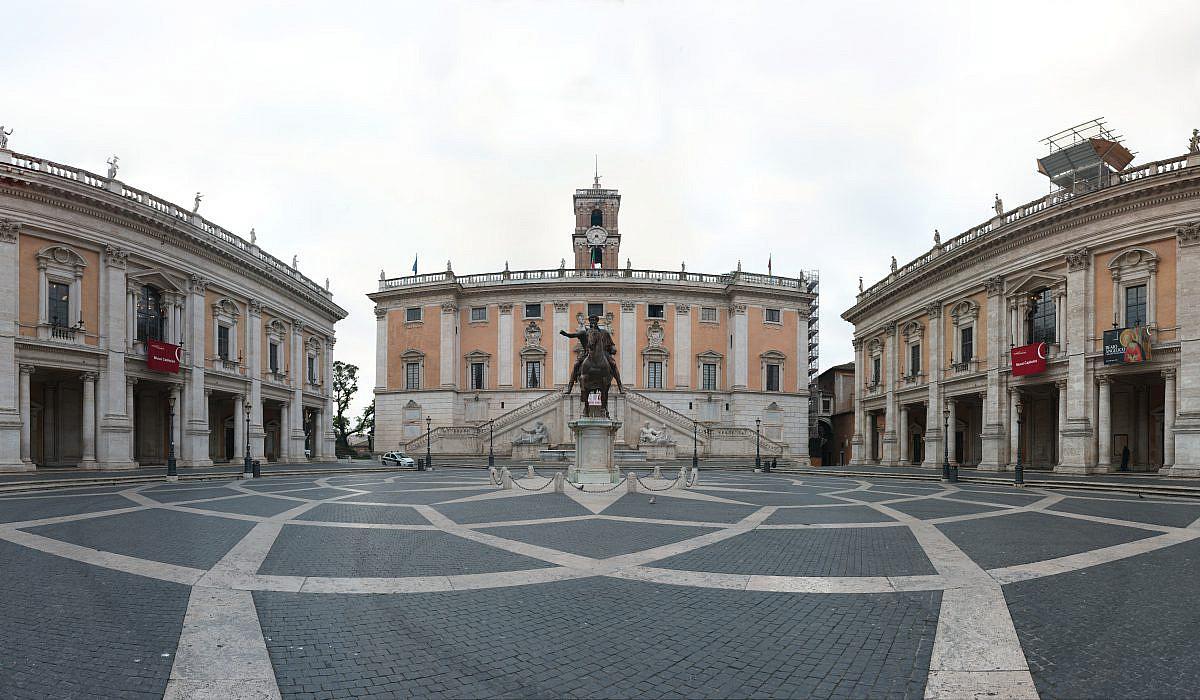 Piazza del Campidoglio auf dem Kapitol, Rom | italien.de