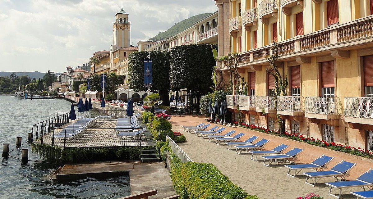 Promenade von Gardone Riviera, Lombardei | italien.de