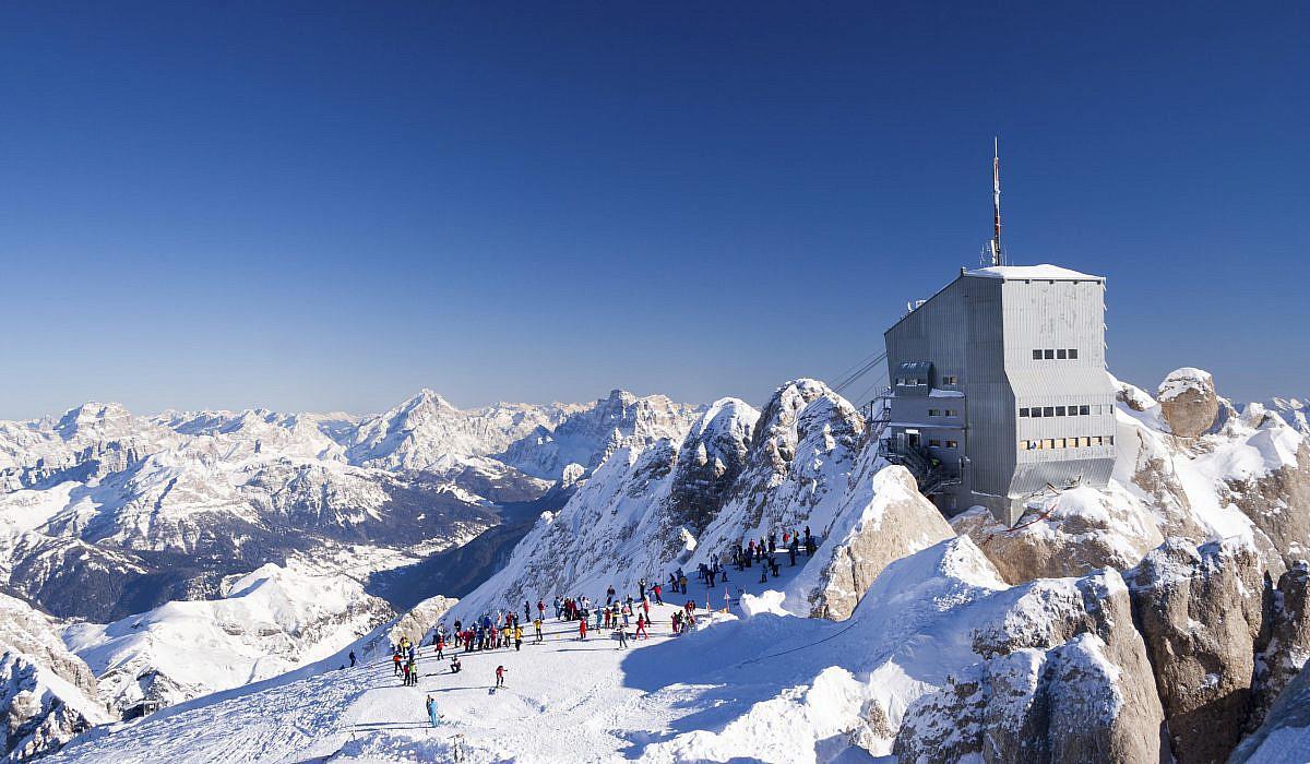 Marmolada im Winter, Dolomiten | italien.de