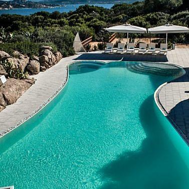 Luxusdomizil vor der Costa Smeralda