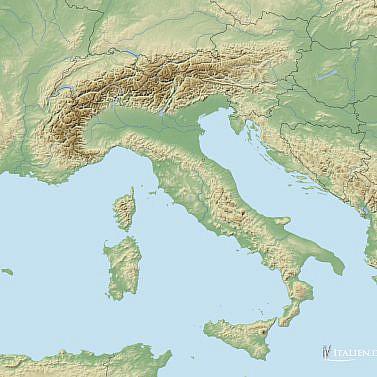 Leere Landkarte Italien